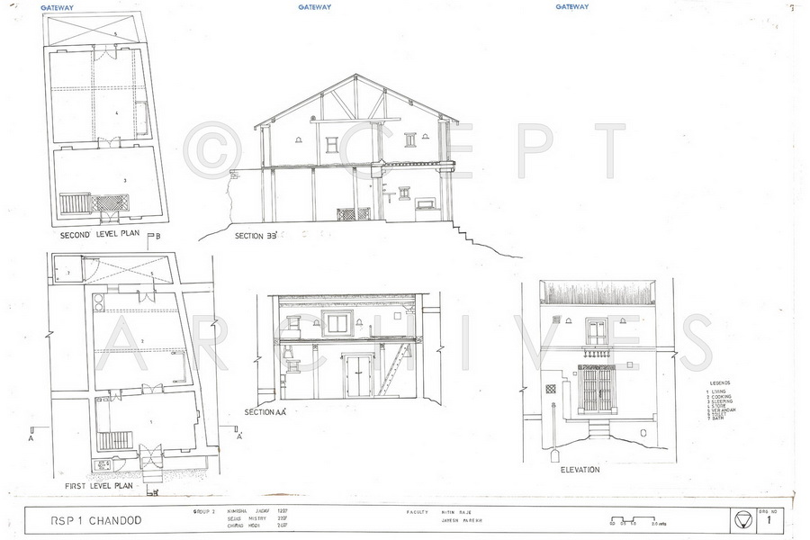 Chanod Houses Pardi Gujarat Architecture Drawing Faculty Of